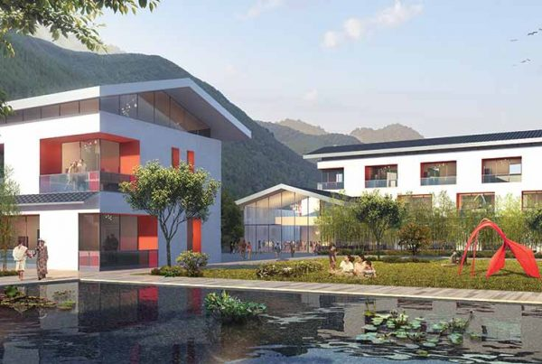 render-image-of-pond-with-apartments-surrounding-in-daylight